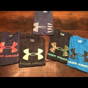 Bundle of youth under armour t-shirts